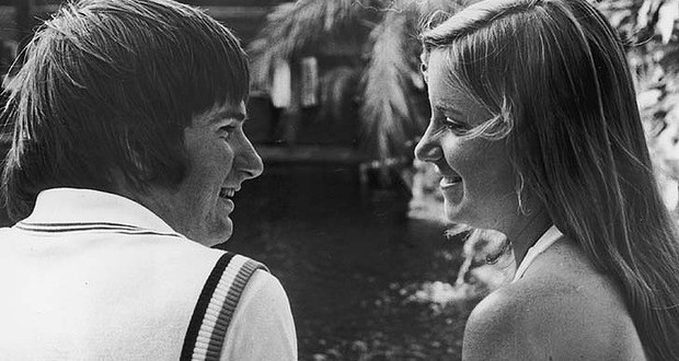 The Daily Retro Pic: Jimmy Connors and Chris Evert in 1975