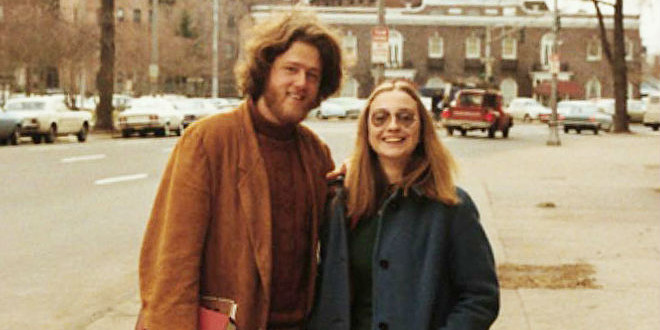Young Hillary- and Bill Clinton. Credits: http://dailyman40.com/the-daily-retro-pic-bill-and-hillary-clinton-in-1970/