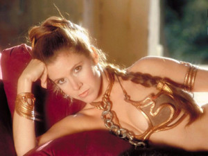 Slave Leia image Carrie Fisher