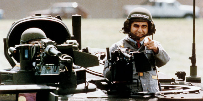 The Daily Retro Pic: Michael Dukakis in a Military Tank