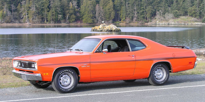 The Daily Retro Pic: A 1970, Orange Plymouth Duster
