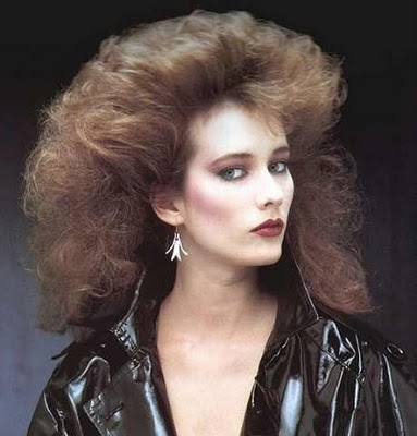 80s high hair women