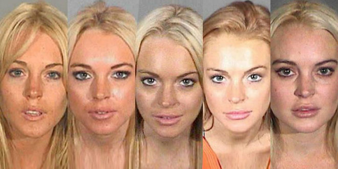 A Pictorial History of Lindsay Lohan Mugshots