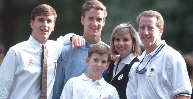 The Daily Retro Pic: The Manning Family in 1993