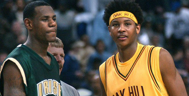 The Daily Retro Pic: LeBron James and Carmelo Anthony in High School