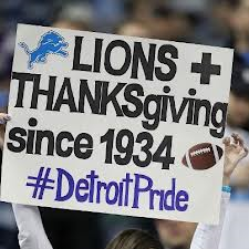Lions thanksgiving
