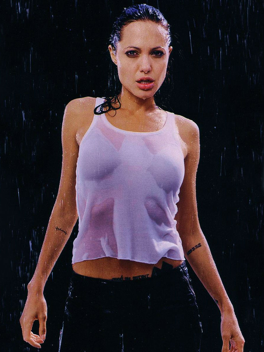 Angelina Jolie Hot Rain