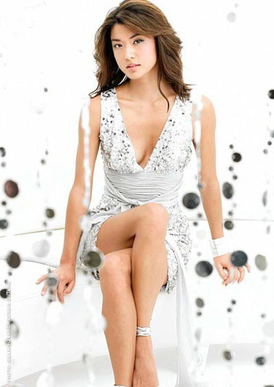 Grace Park white dress