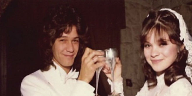 The Daily Retro Pic: Wedding Shot of Eddie Van Halen and Valerie Bertinelli